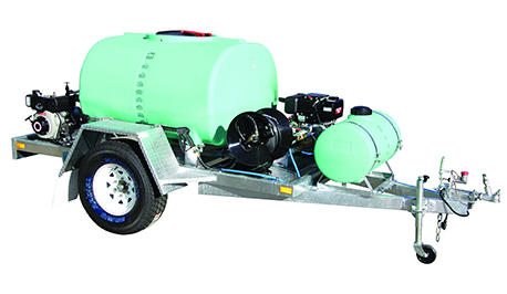 1500 LITRE WATER CART SPRAY & SERVICE TRAILER HIRE SYDNEY